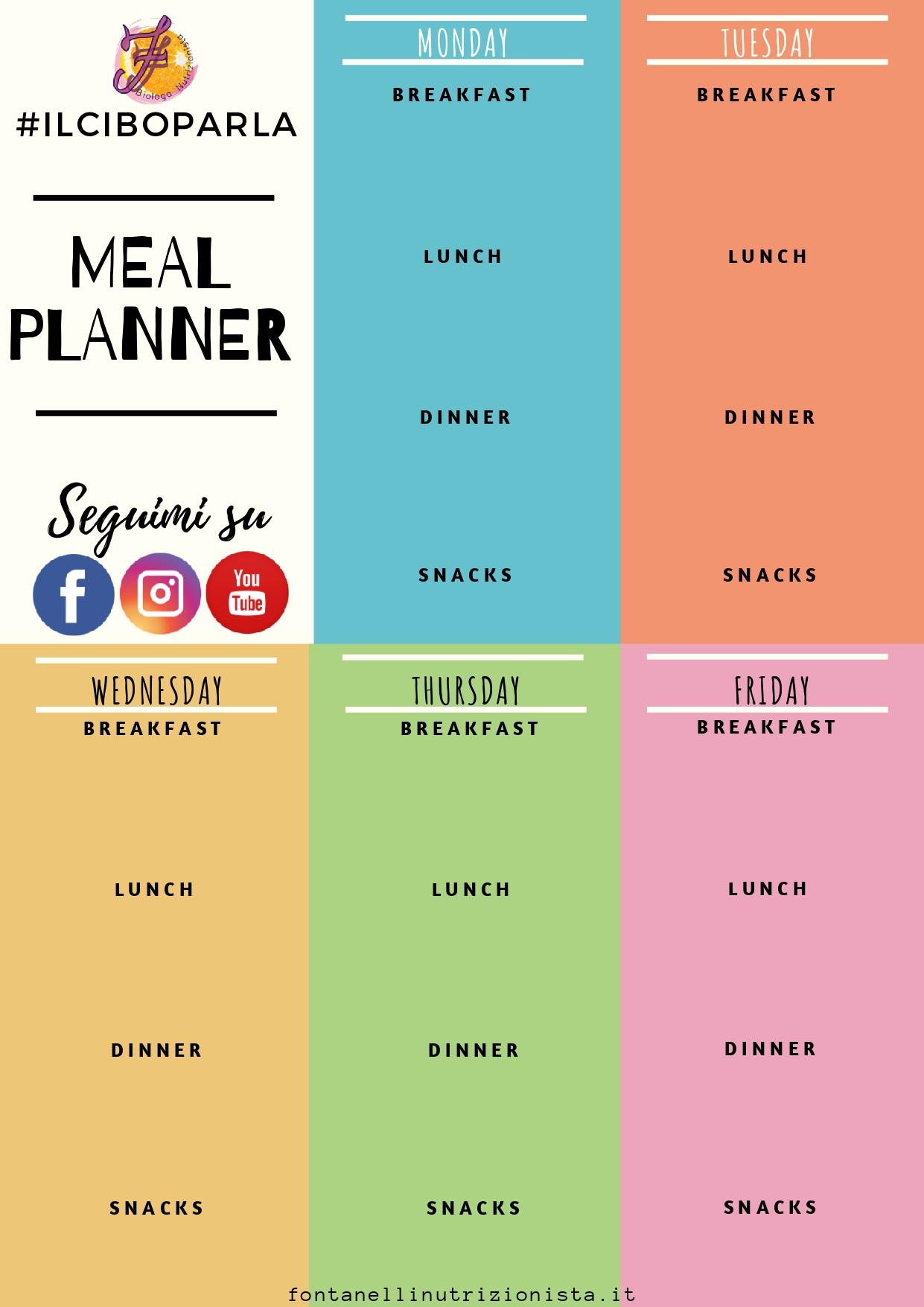 Come Organizzare I Pasti Settimanali organizzare i pasti della settimana… – nutrizionista fontanelli